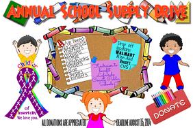 School Supply Event Children Flyer