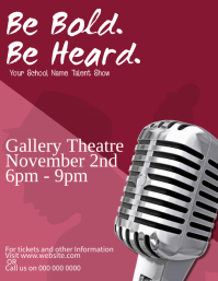 School Talent Show Event Flyer Template