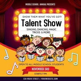 School Talent Show Square Video