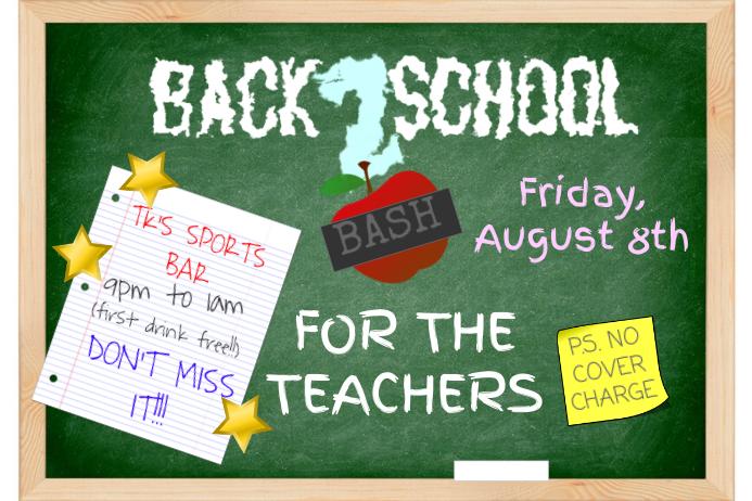 School Teacher Flyer