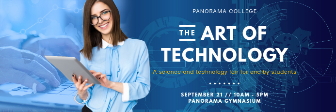 School Technology and Science Fair Banner
