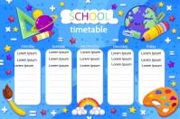 SCHOOL TIMETABLE Etiket template