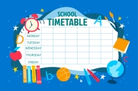 SCHOOL TIMETABLE Label template