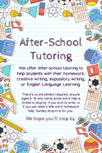 School tutoring advertisement flyer template
