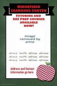 School tutoring Test Prep Education flyer template poster