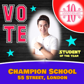 School voting poster flyer