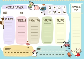 School Weekly Planner Timetable