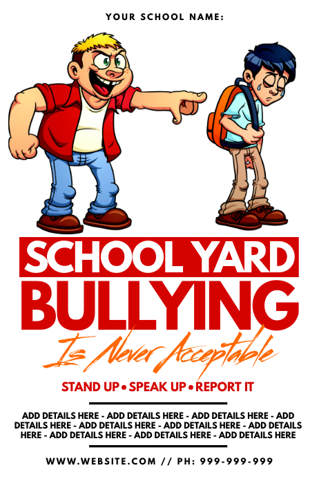 School Yard Bullying Poster