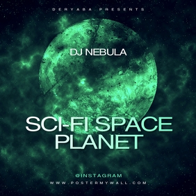 Sci-Fi Space Planet CD Cover Template