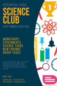 Science club flyer design template