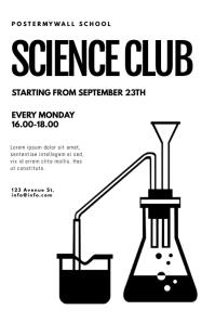 Science club flyer design template โปสเตอร์