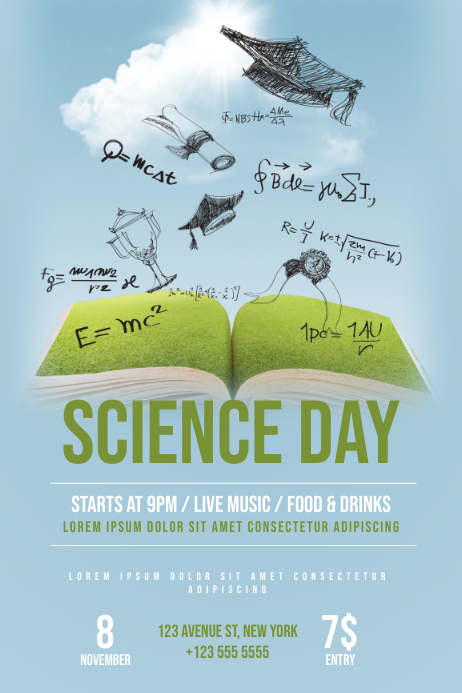 Science Day Flyer Template