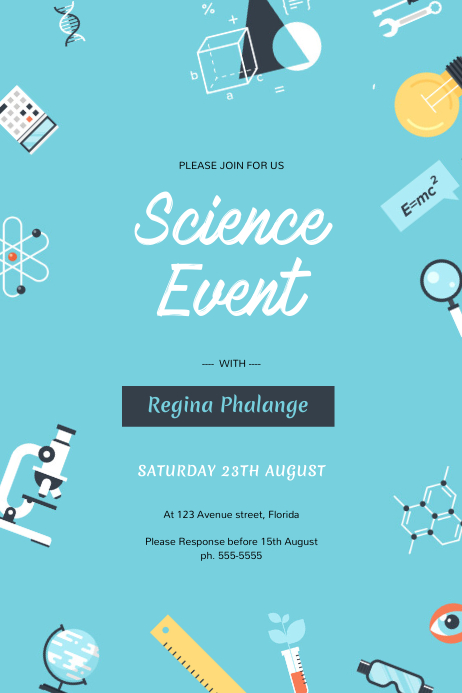 Science Education School Event Flyer Template