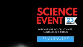 Science Event Facebook Cover Template video advertising