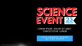Science Event Video Promotion Template Facebook cover