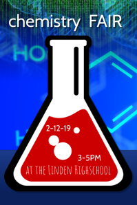 science Fair chemistry flyer poster template