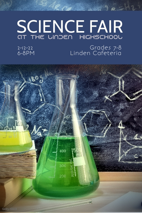 science Fair flyer poster template