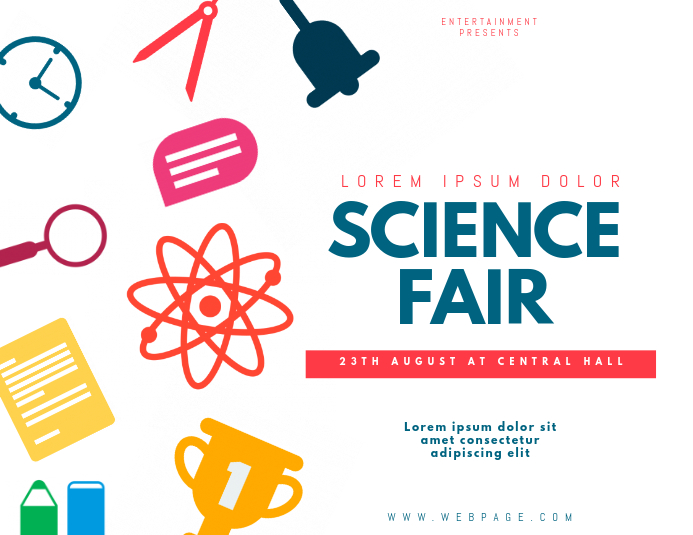 science fair flyer template postermywall