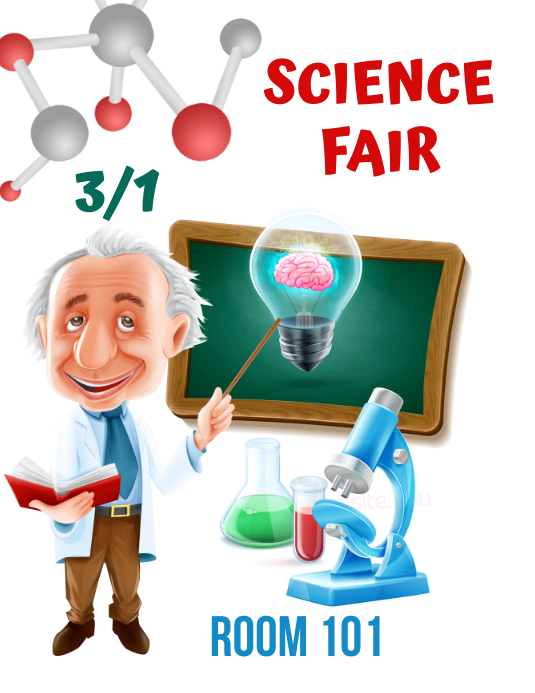 Customizable Design Templates For Science Fair Flyer Postermywall