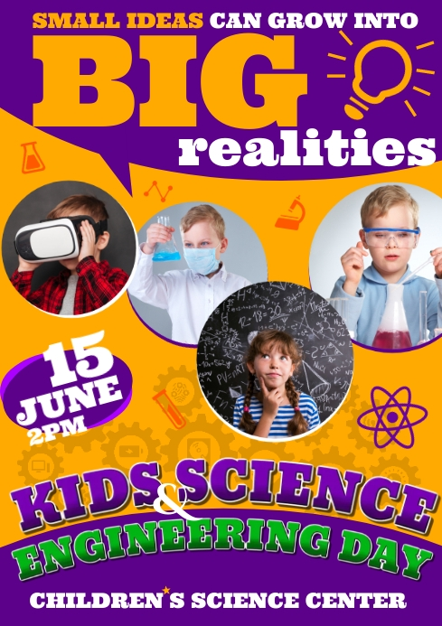 SCIENCE FAIR FOR KIDS POSTER