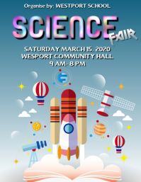 Science Fair Poster Flyer (US Letter) template