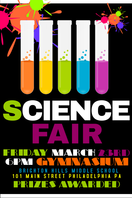 Science fair banner template gallery template design ideas for Science fair labels templates