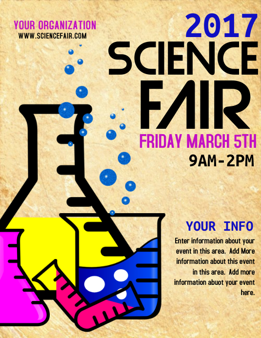 Free science fair poster board template