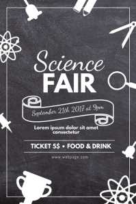Science fair Flyer school Event Flyer Template