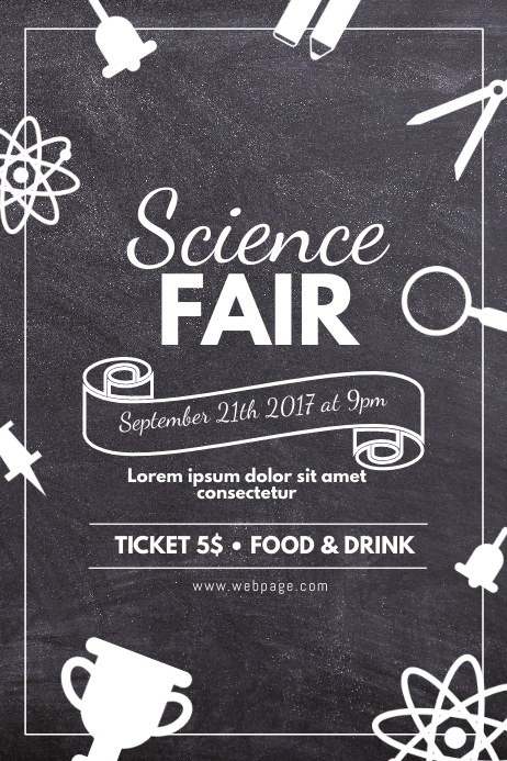copy of science fair flyer school event flyer template