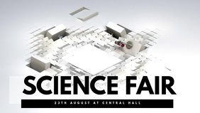 Science Fair Video Template Facebook Cover