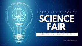 Science Fair Video Template For Facebook Cover