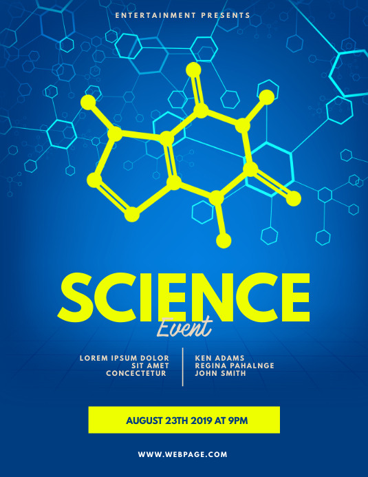 Science flyer template ใบปลิว (US Letter)