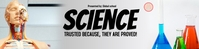 Science google class banner template