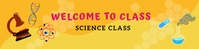 Science Google Classroom Banner template