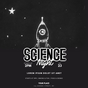 Science night Event Video Design Instagram