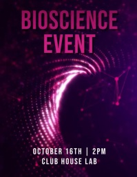 science poster Volante (Carta US) template