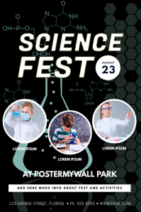 Science Stem Festival event Flyer Template
