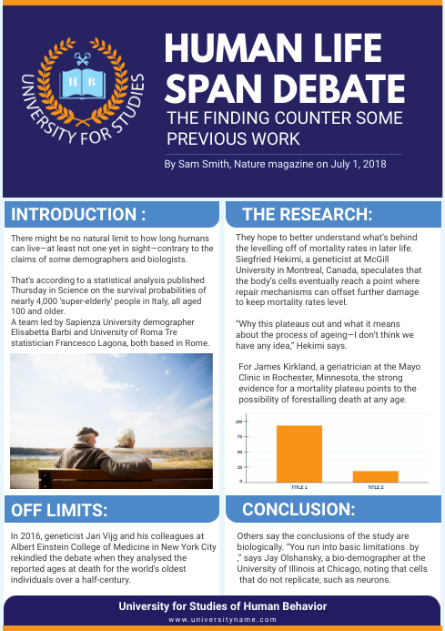 Scientific Journal Paper Editable Infographic A4 template