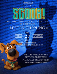 Scoob Birthday Party Invitation Template