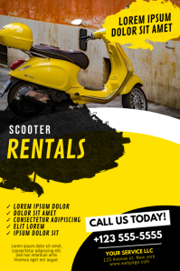 Scooter Rentals Flyer Design Template