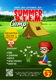 Scout camp poster A2 template