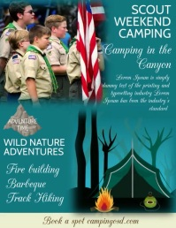 SCOUT FLYER Pamflet (Letter AS) template