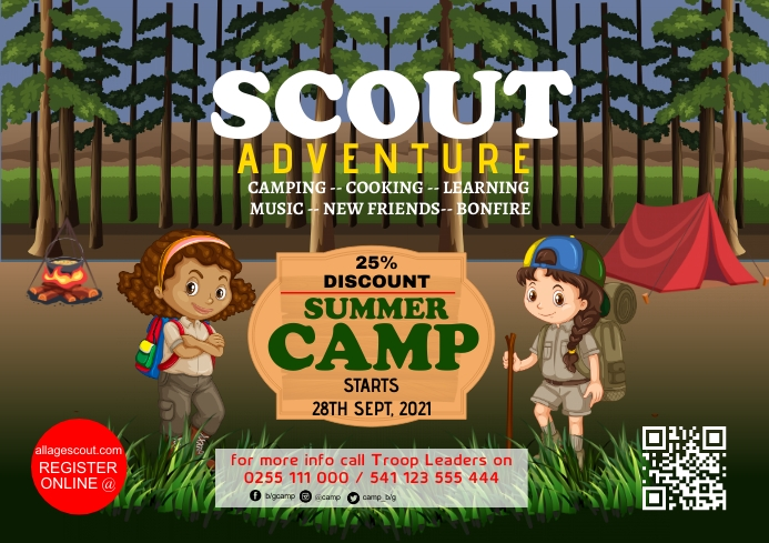 Scout poster 22 A2 template