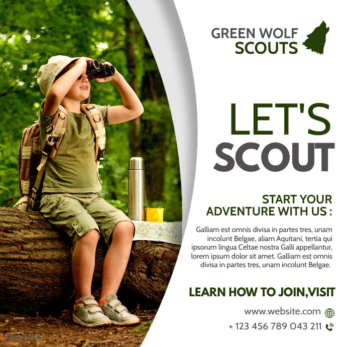scouting instagran post banner advertising template