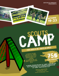 Scouts Camp Flyer Design Template