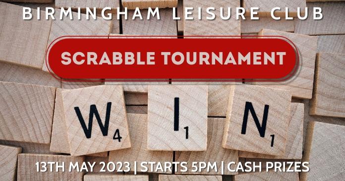 Scrabble Tournament Event Ad template