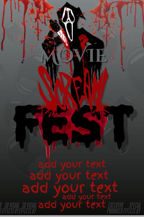 Scream Halloween Movie Costume Contest Party Horror Haunted