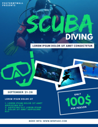 Scuba Diving Flyer Design Template