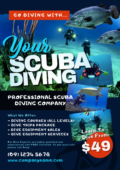 Scuba Diving Flyer Template