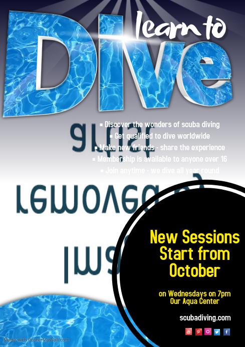 Scuba Diving Poster Customize Template